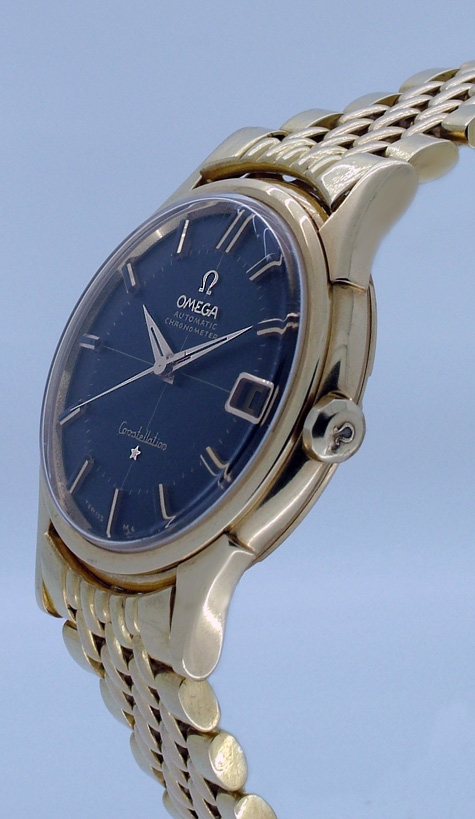 solid gold omega constellation 18k